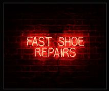 Fast Shoe Repairs Neon Sign